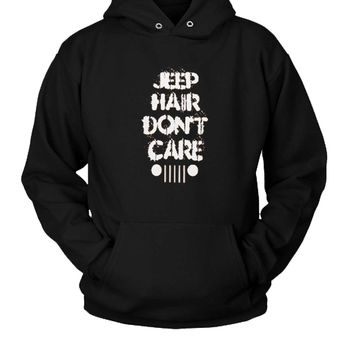 Jeep Hair Don'T Care Hoodie Two Sided