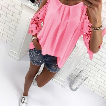 Solid Color Fashion Sexy Shirt