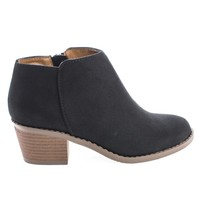 MugIIS Black By Soda, Children / Girl Zip Up Mid Heel Ankle Boots