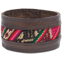 Aguayo Recycled Leather Bracelet: Soul-Flower Online Store