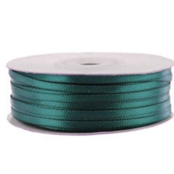 Double Face Satin Ribbon, 1/8-inch, 100-yard, Hunter Green