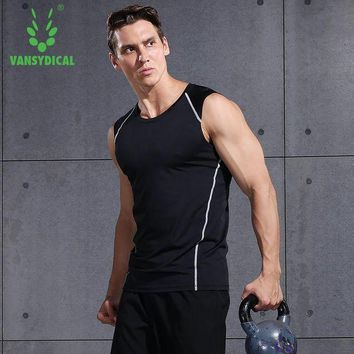 PEAPFS2 Men GYM T-shirt Running Shirt tank Quick Dry Breathable Sleeveless Sports Tops Vest