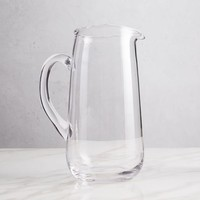Organic Shaped Glass Pitcher