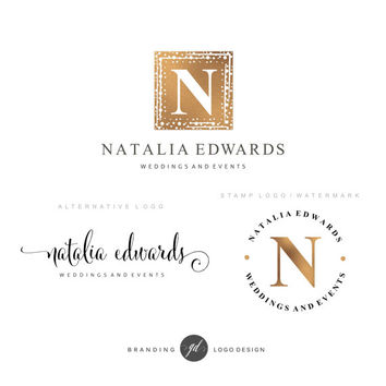 Luxury Premade Branding Kit, Wedding event logo Photography logo, wedding stylist logo, Blog logo, Watermark, Branding kit, Logo package, 29