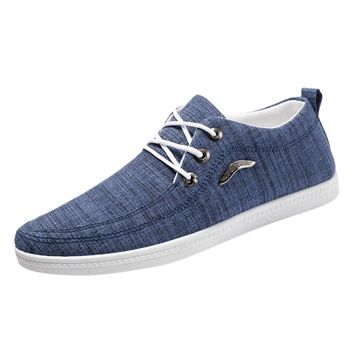 SAGACE Casual Shoes Male Fashion Men Outdoor Canvas Casual Lace-Up Shoes Men Footwear Lazy Shoes Breathable Sneakers Plus Size
