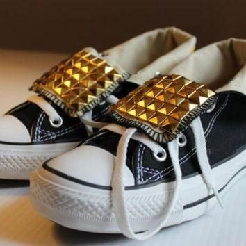 DCCKHD9 Studded Fold-Over Converse All-Star High-Tops Assorted Sizes and Colors - Free US Ship