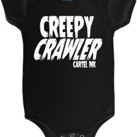 Kid's Creepy Crawler Onesuit T-Shirt - Black