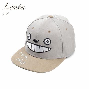 Trendy Winter Jacket [Lymtm] 2018 Anime Totoro Lovely Baseball Cap Summer For Men Women Cute Snapback Caps Unisex Hip Hop Hats Gorra Casquette AT_92_12