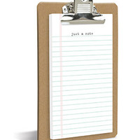 'Just A Note' Clipboard & Notepad