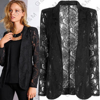 Hot Popular Lace Business Casual Suit Outerwear Jacket a12973