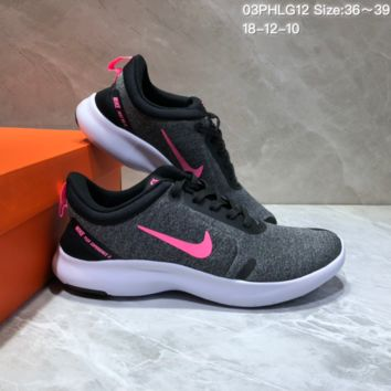 DCCK N704 NIKE FLEX EXPERIENCE RN Sports Casual Running Shoes Grey pink