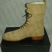 Handmade Mens Suede Boots, Men Ankle Boots, Men Beige Color Suede Boot, Mens Boot