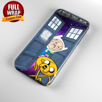 Tardis Box Finn Ugly Face Inside Galaxy Full Wrap Phone Case For iPhone, iPod, Samsung, Sony, HTC, Nexus, LG, and Blackberry