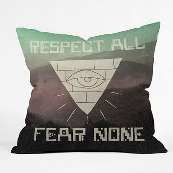 Wesley Bird Fear None Throw Pillow