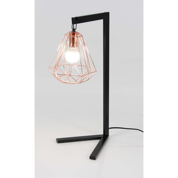 Benzara Gorgeous Black Metal Wire Table Lamp