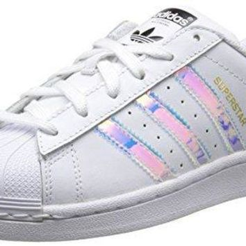 ESBUIR adidas Originals Superstar J White/Iridescent Leather Youth Trainers