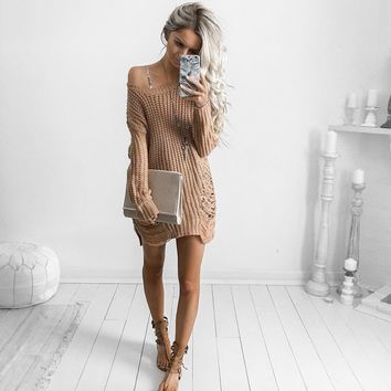 Autumn Dream Sweater Dress