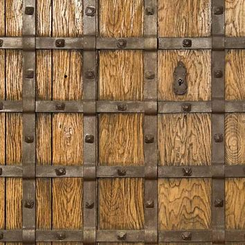 Castle Wood Door Backdrop - 1312