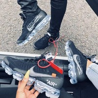 OFF-WHITE x Nike Air Vapor Max Fashionable Women Men Sports Shoes Sneakers