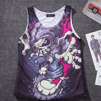 Printing T-shirts and loose breathable vest