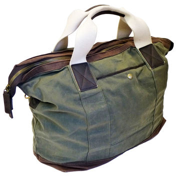 Waxed Canvas Everyday Tote, Olive/Brown, Totes