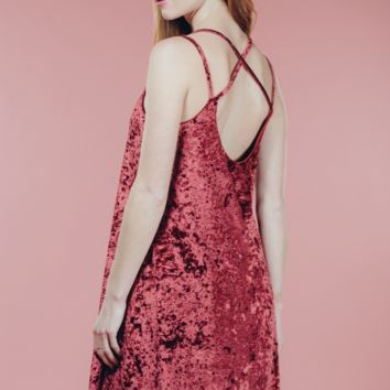 The Wine Velvet Dress