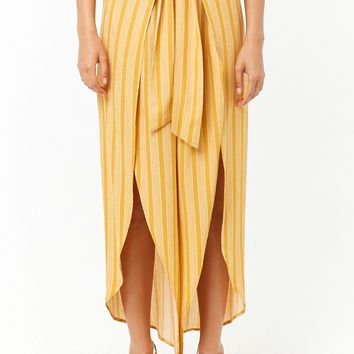 Striped Split-Leg Culottes