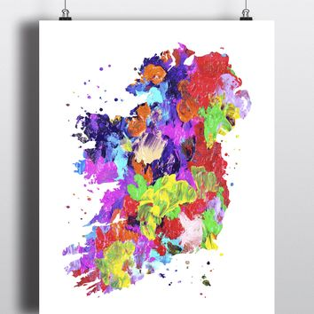 Ireland Map Art Print - Unframed