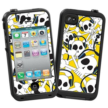 Skull Prince with Beats on Yellow Skin for the iPhone 4/4S Lifeproof Case by skinzy.com