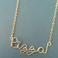 Gold Pizza Necklace