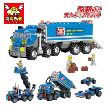 Enlighten Child 6409 educational Dumper Truck KAZI DIY building block sets City Car children legoe toys Gifts for kits