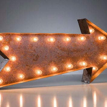 "Vintage Marquee Lights - Ready to Ship - Arrow 36"" long"