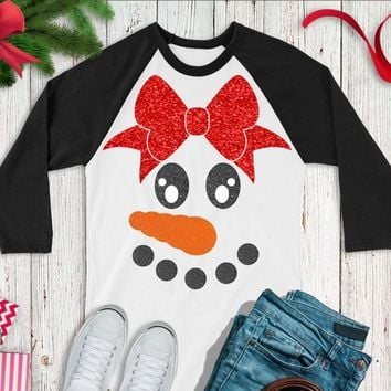 Snow Woman svg,Snowman Face svg,Bow Snowman svg,Christmas Decals,Christmas svgs,Holiday svg,Christmas svg,Cricut Designs,Silhouette Design