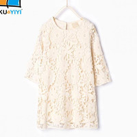Girl Winter Spring Lace Princess Dress Infant Party Dress 2016 Children Clothing Kids Clothes Teenagers Dress For Girls Dresses