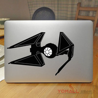 "Tie Fighter Star Wars Laptop Sticker for Apple Macbook Pro Air Retina 11"" 12"" 13"" 15""  Mac Mi Notebook Cover Skin Laptop Decal"