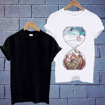 Custom Design T shirt Disney Elsa Frozen Time Glass Unisex available size men,woman (S,M,L,XL,2XL)
