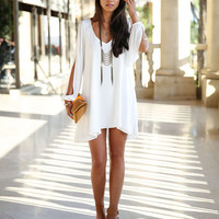 Hot Sexy Fashion Women Summer Casual Sleeveless Party Evening Cocktail Short Dress White Royal Blue Black Gift Idea