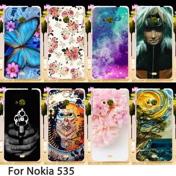 TAOYUNXI Soft Phone Cases For Microsoft Nokia Lumia 535 N535 5.0 inch Cases Colorful Smartphone Hard Back Covers Skin Bags