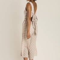 Bailey Taupe Polka Dot Jumpsuit