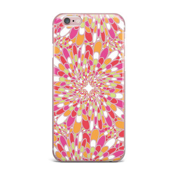 "Miranda Mol ""Flourishing Pink"" Pink Orange iPhone Case"