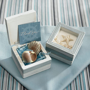 Beach Themed Little Wooden Boxes