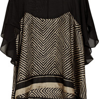 Elizabeth and James Alessia printed silk top – 54% at THE OUTNET.COM