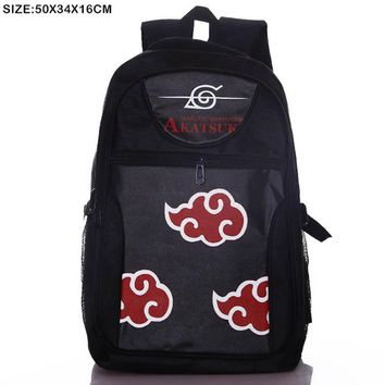 Naruto Sasauke ninja Anime  Shippuden Akatsuki Laptop Black Backpack/Double-Shoulder/School/Travel Bag for Teenagers or Animation Enthusiasts AT_81_8