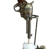 Western Pistol Toilet Brush with Horseshoe and Spurs Stand