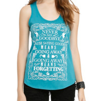 Disney Peter Pan Never Say Goodbye Girls Tank Top