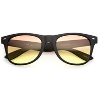 Rubberized Horned Rim Gradient Lens Sunglasses C233