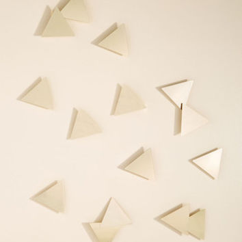 Confetti Compatibility Wall Decor in Gold Triangles | Mod Retro Vintage Decor Accessories | ModCloth.com