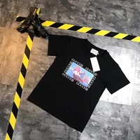 """""""Gucci"""" Women Loose Casual Vintage Little Ghost Box Print Short Sleeve T-shirt Top Tee"""
