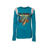 DCCK8X2 Miami Dolphins NFL Womens Baby Jersey Long Sleeve Crewneck