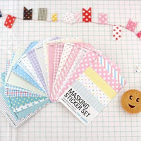 27PCS Creative DIY Scrapbook Pack Labelling Masking Tape Craft Stickers Set Good